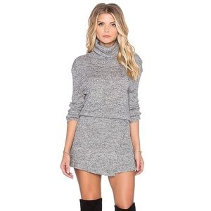 Free People By the Fire mini sweater dress